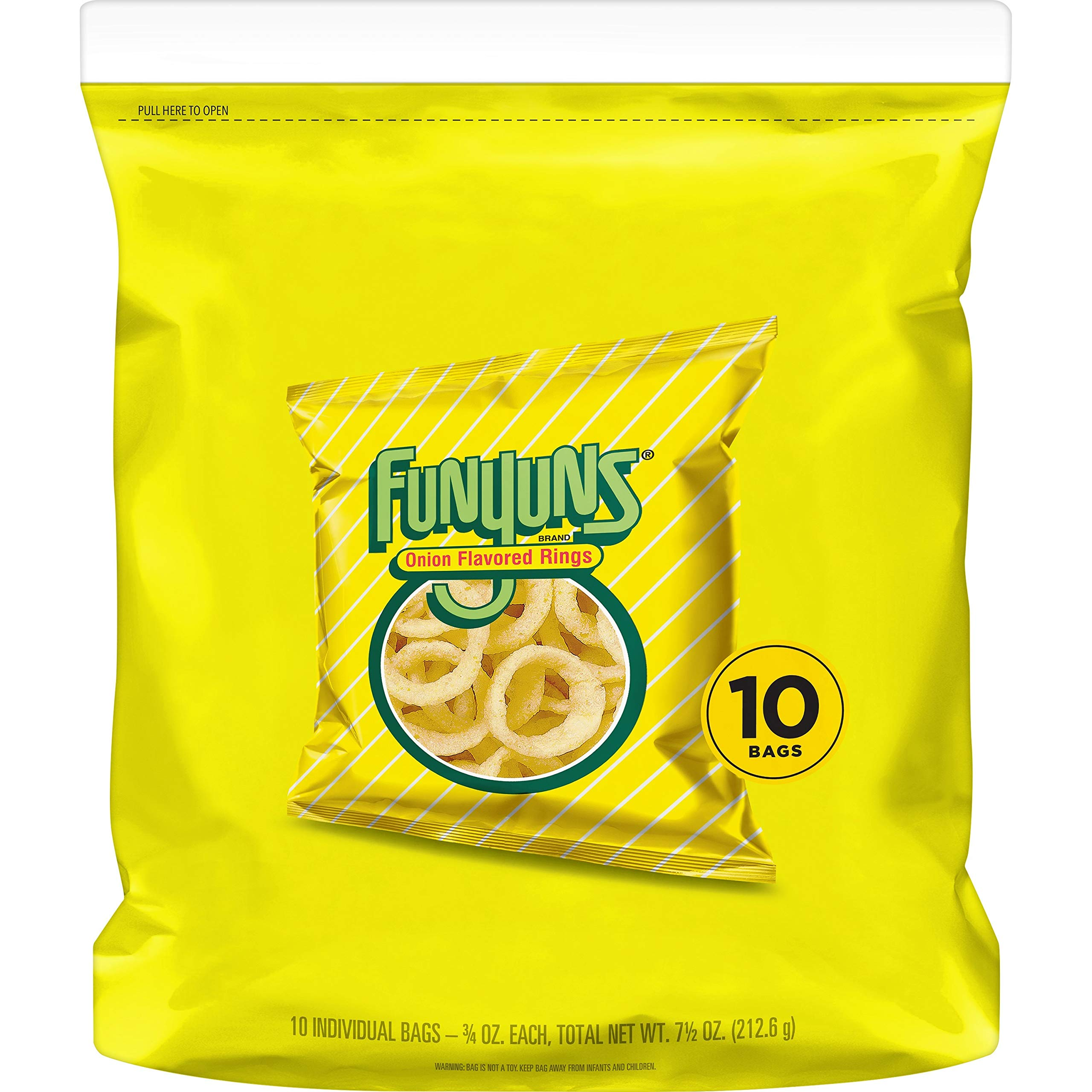 Funyuns Onion Flavored Rings, 0.75oz Bags 10 count