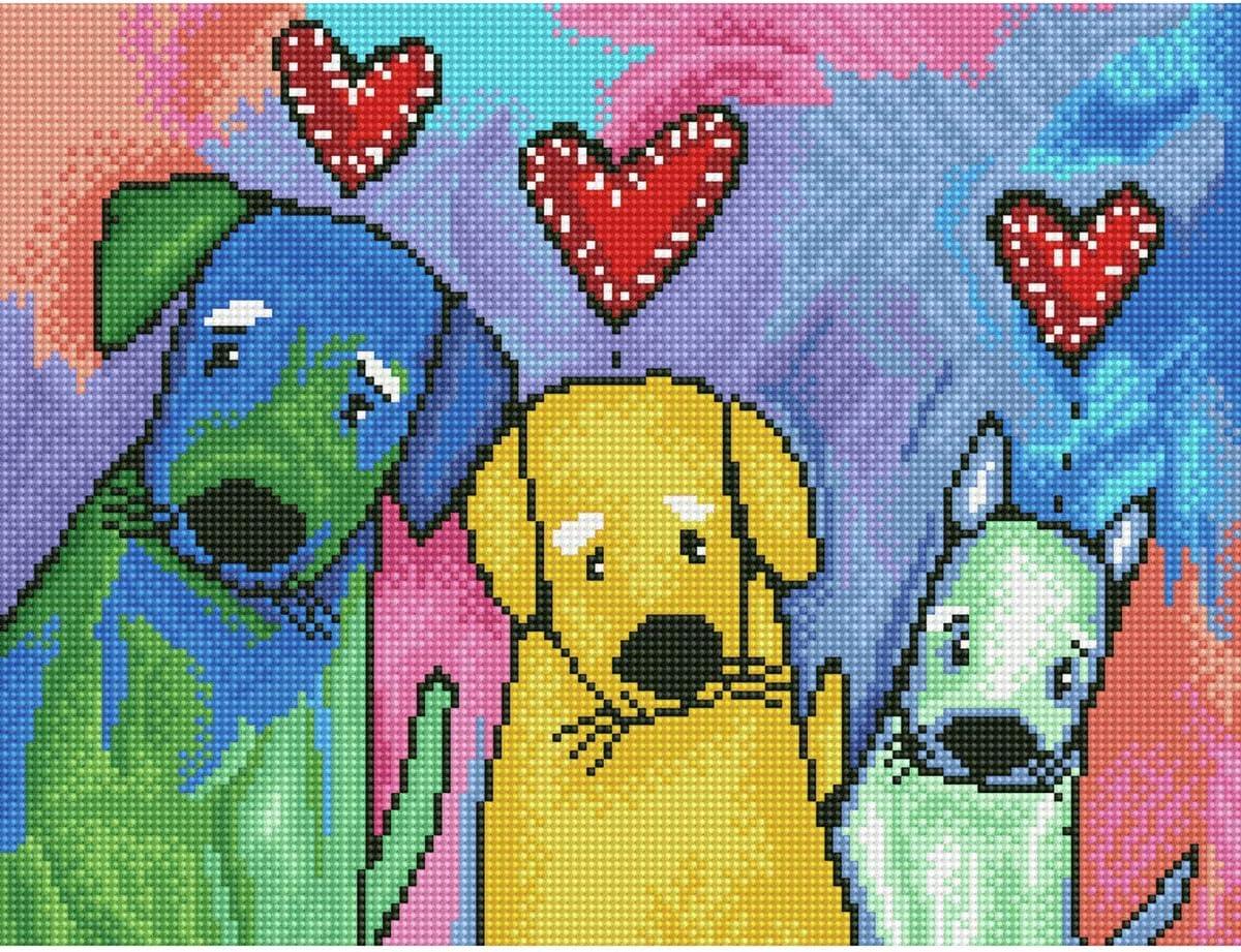 Diamond Dotz 5D Embroidery Facet Art Kit Starter Patchwork Heart