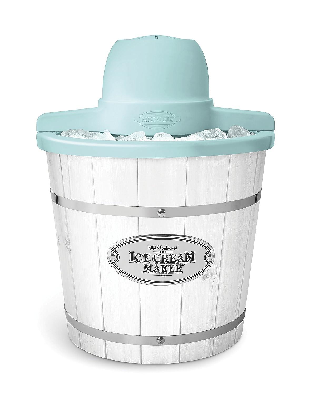 Nostalgia IC4WDW 4-Quart White Washed Wood Ice Cream Maker