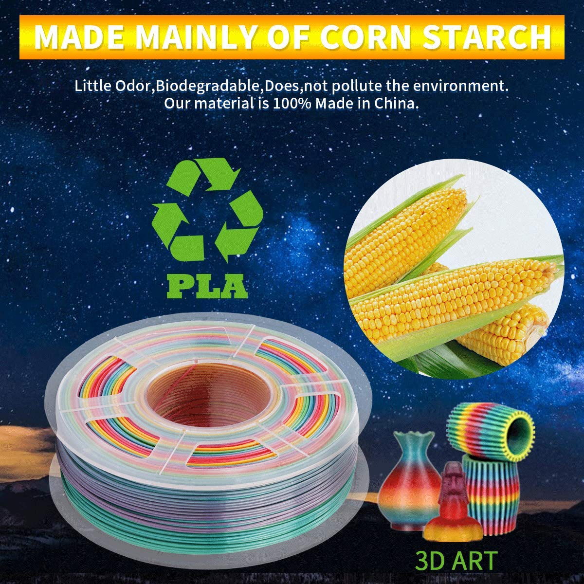 Real Wood Filament // Dimensional Accuracy 0.02 mm SUNLU Wood 3D Printer Filament 1.75mm PLA Filament 1kg//Spool for 3D Printing