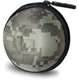 GoFree Orb Shock Proof Ballistic Nylon Multi-Purpose Case for Earphones, Pen Drives, SD Memory Cards, Keys, Coins (Camouflage Grey)