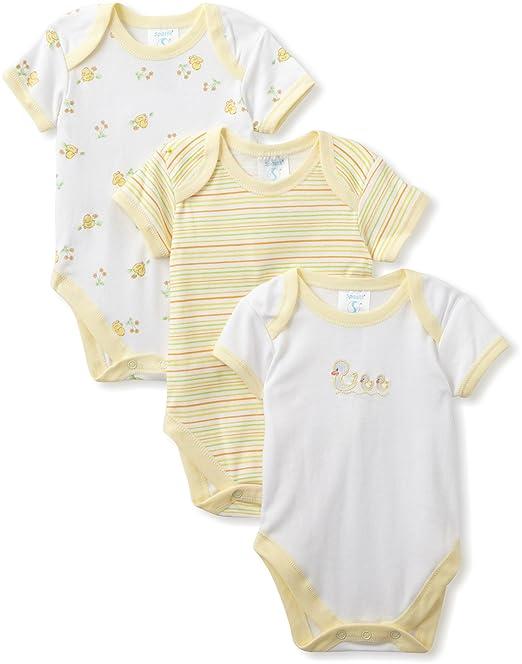 Spasilk Unisex-Baby Pack Recién Nacido Body de pato - Amarillo ...