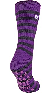 Womens 2.34 Tog Thermal Heat Holder Slipper Socks, 5-9 Us, Purple/