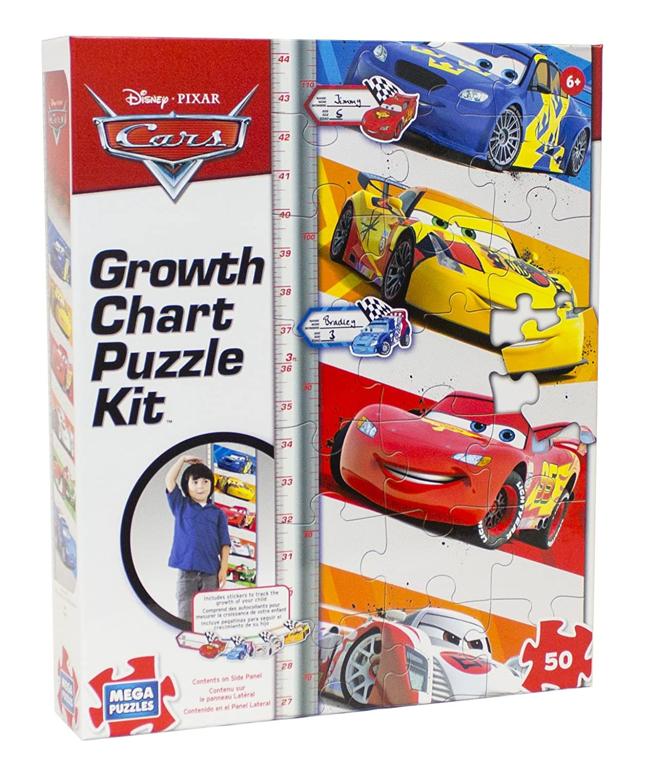 Amazon disney 50 piece cars growth chart puzzle toys games nvjuhfo Image collections