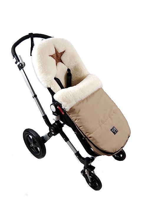 Kaiser Cubrepiés para carrito de bebé, hecho de piel de cordero, con diseño de