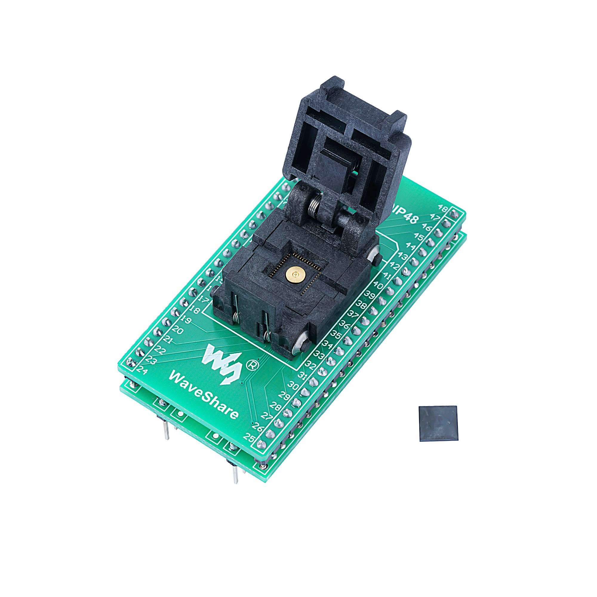 CQRobot Programmer Adapter Pitch 0.5mm, QFN48 to DIP48, Plastronics IC Test Socket and Programming Adapter for QFN48 MLF48 MLP48 Package. by CQRobot