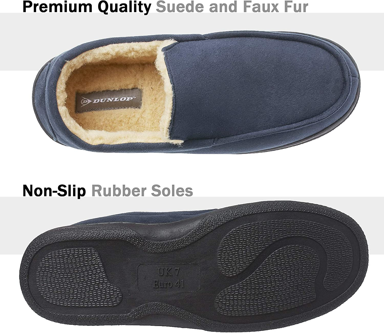 Zapatillas de Casa Invierno Calientes Suela de Goma Dura Dunlop Zapatillas Casa Hombre Pantuflas Estilo Mocasines Cerradas Regalos Originales para Hombre
