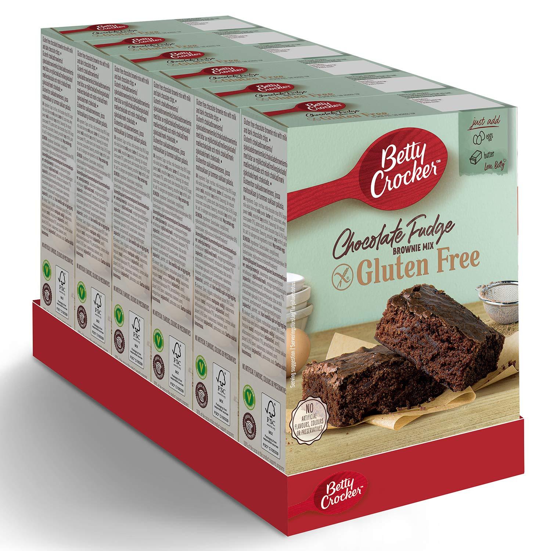 Betty Crocker Gluten Free Chocolate Fudge Brownie Cake Mix 415g (Pack of 6)