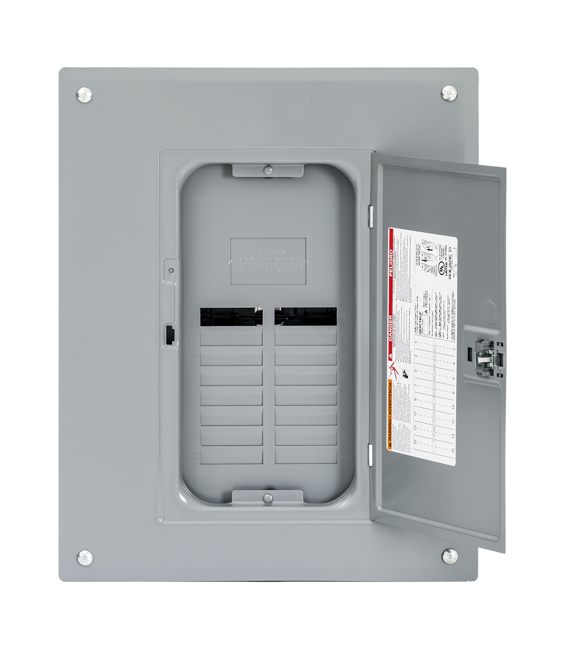 Square D by Schneider Electric QO112L125GC QO 125 Amp 12-Space 12-Circuit Main Lug Indoor Load Center with Cover,