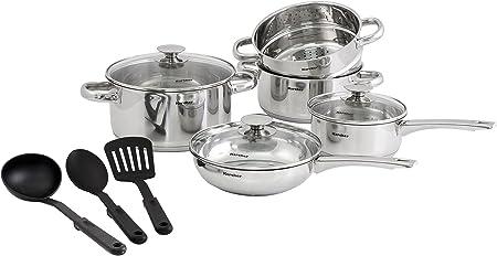 Hochwertiges Induktion Edelstahl Kochtopfset Kochtöpfe Pfanne Töpfe Set