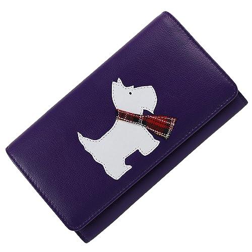 Mala - Cartera / monedero de piel de la colección Best Friends con diseño de perro Scotty - --, Morado: Amazon.es: Zapatos y complementos