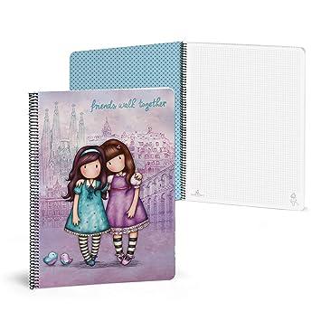 Gorjuss 20852049900 - Libreta con 80 hojas, A4, color violeta: Amazon.es: Oficina y papelería