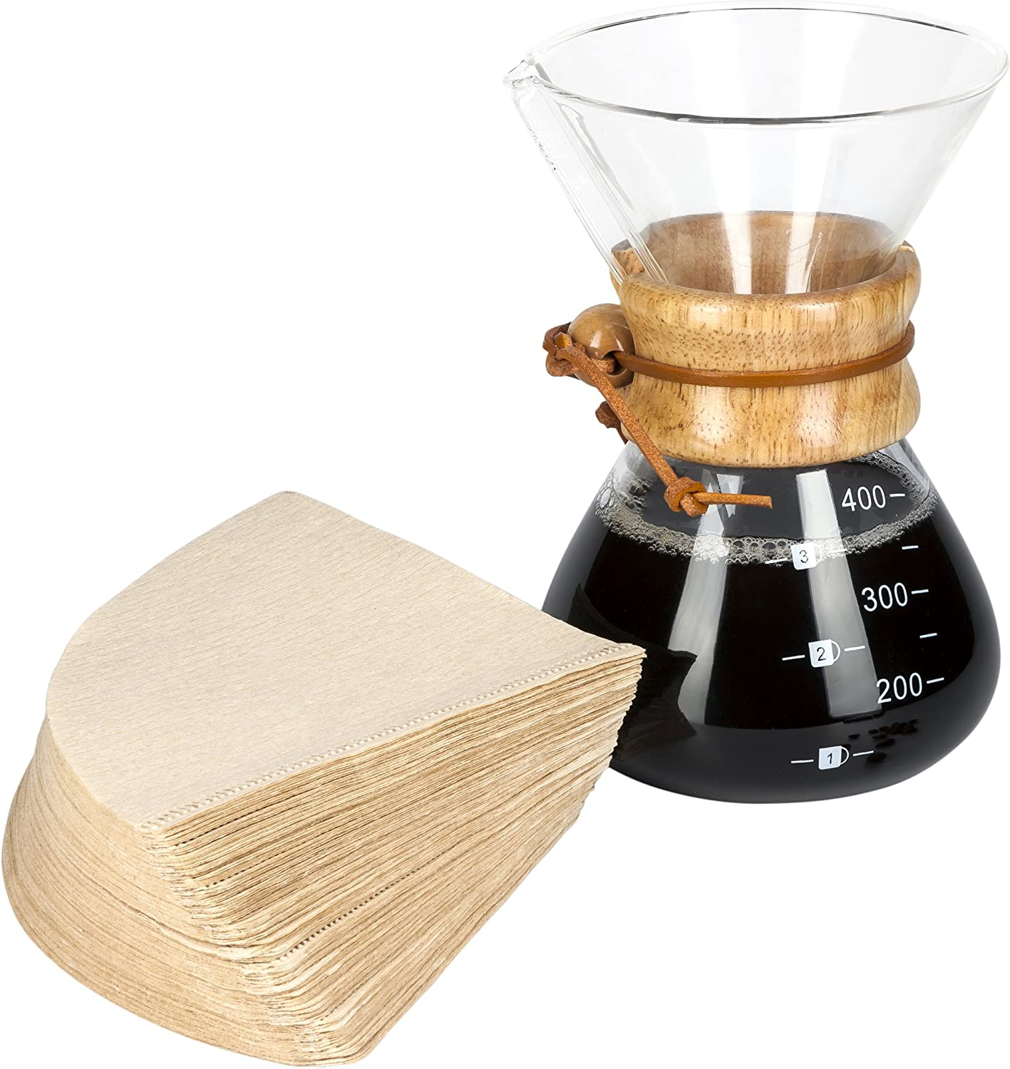 LVKH Pour Over Coffee Maker – Includes 100 Paper Filters – 13.5 ounces, 1 Cup