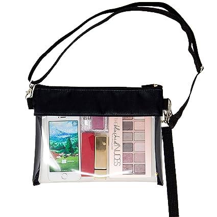 Amazon.com: Youngever Deluxe bolsa cruzada transparente ...