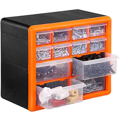 VonHaus 12 Drawer DIY Storage Cabinet Organiser Tool Chest For Small Parts Nuts Bolts  sc 1 st  Amazon.in & Buy VonHaus 12 Drawer DIY Storage Cabinet Organiser Tool Chest For ...