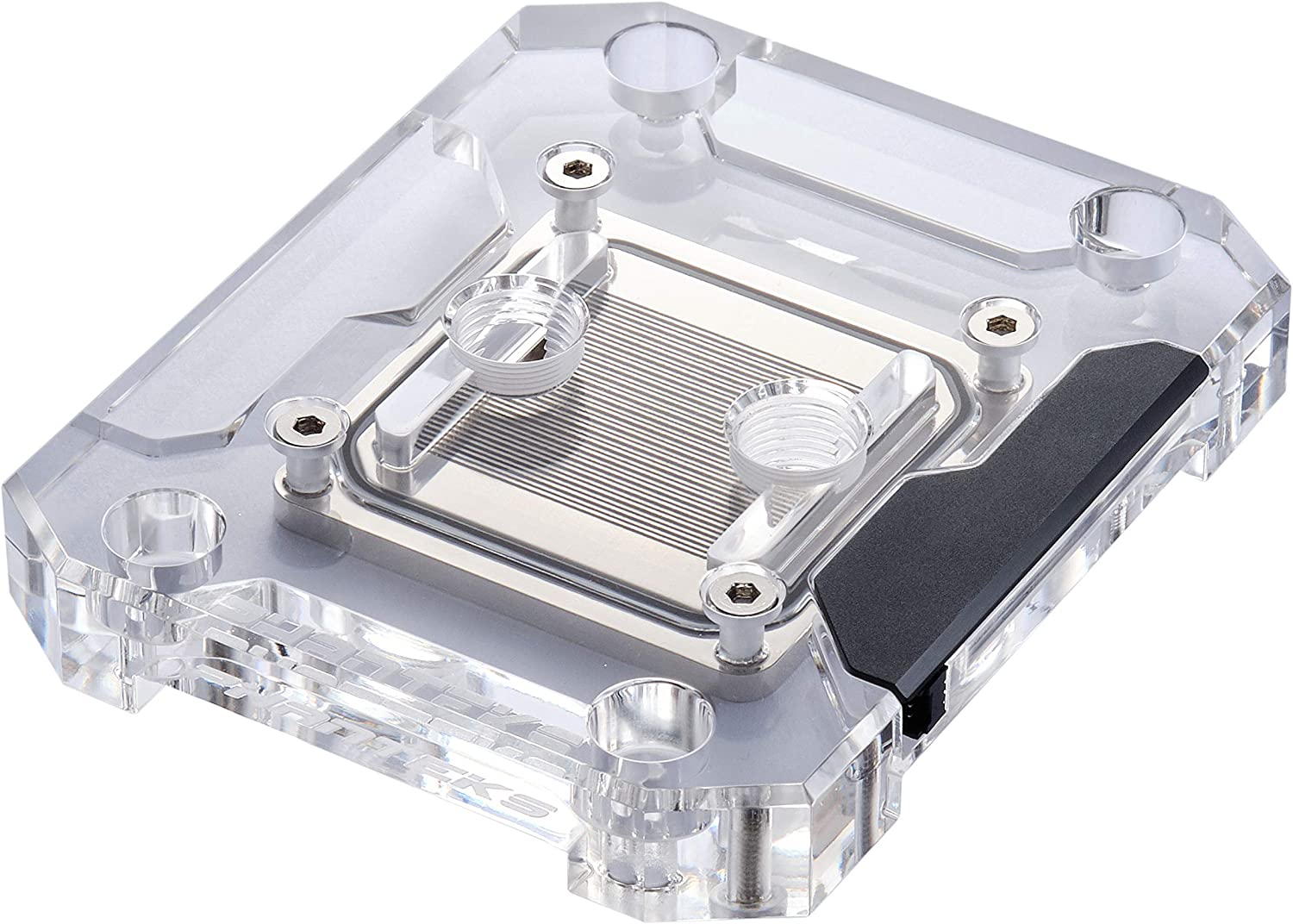 Phanteks Glacier C360a (PH-C360A_01) CPU Water Block for AMD AM4, Acrylic Cover, Digital-RGB LED Lighting, Chrome and Black Cover