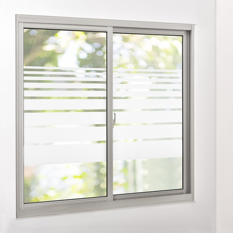 casao] Sichtschutzfolie für Fenster gestreift Statisch