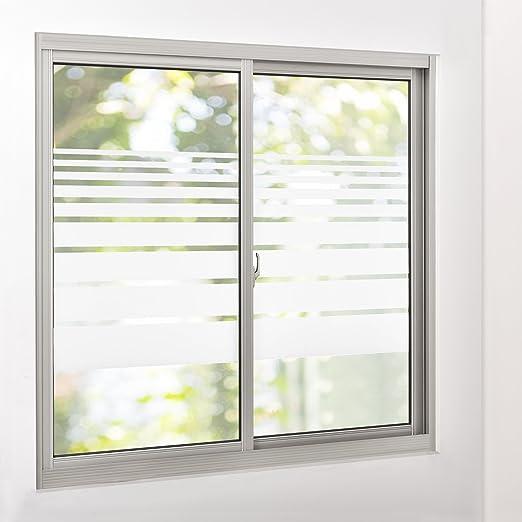 Amazon De Casa Pro Sichtschutzfolie Fur Fenster Gestreift