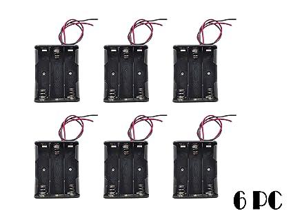 Amazon.com: WAYLLSHINE 6PCS 3 x 1.5V AA Battery Spring Clip Black ...