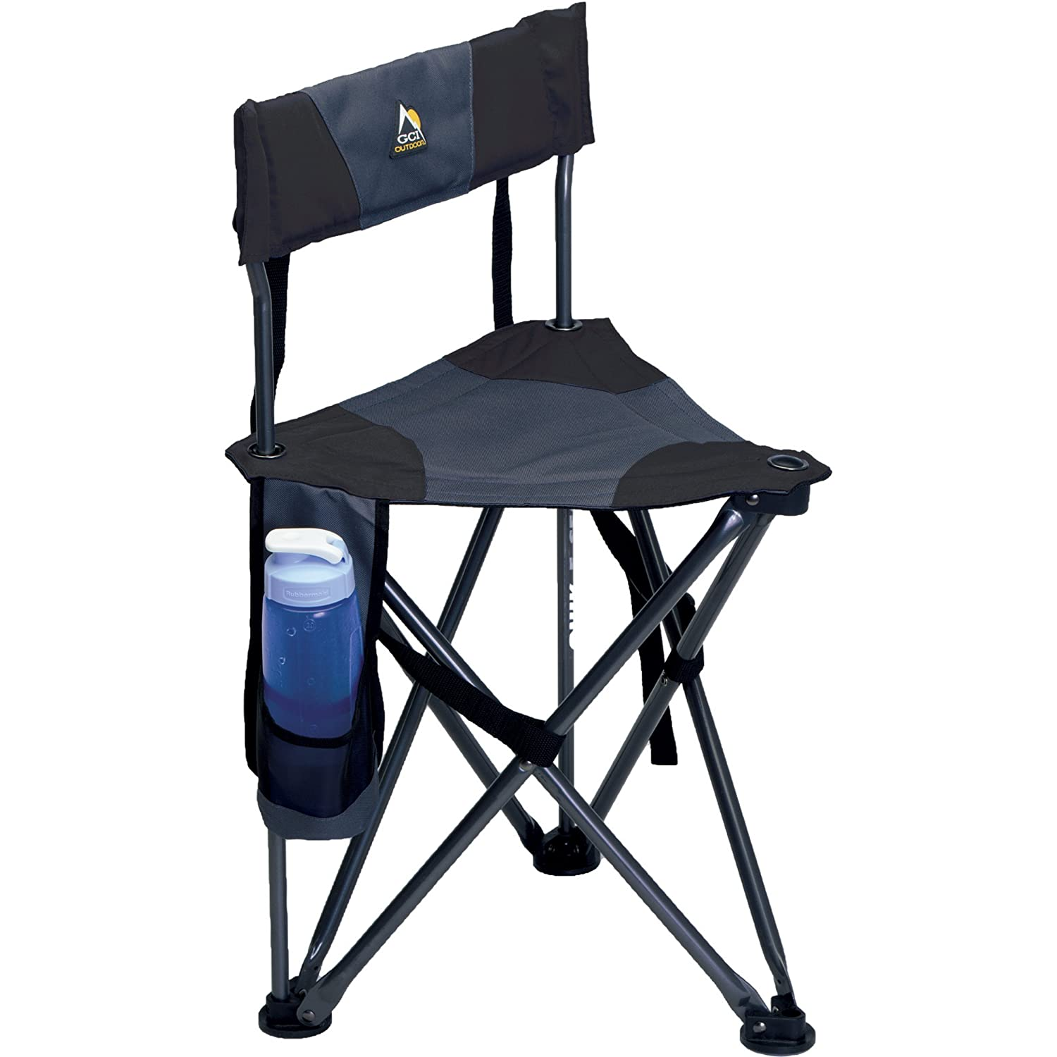 GCI Outdoor Quick-E-Seat Folding Tripod Field Chair with Backrest  Best Hiking Stool