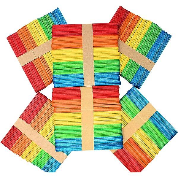 Lollipop Sticks Natural Wooden or Colour Lollypop Lolli Lolly Stick Art /& Crafts