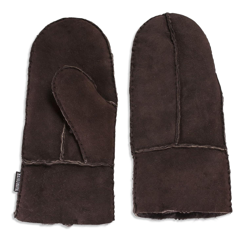Nordvek Sheepskin Gloves Men - Split Palm Mittens # 312-100
