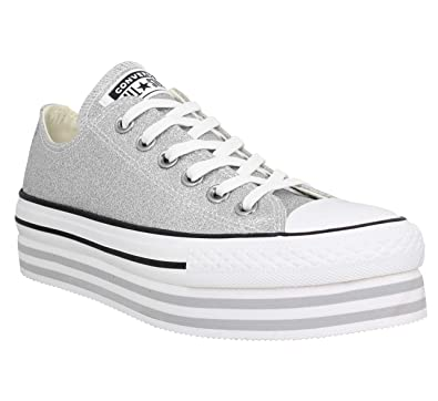 half off cc4db 187f3 Converse Chuck Taylor All Star Platform Layer Toile Femme Argent