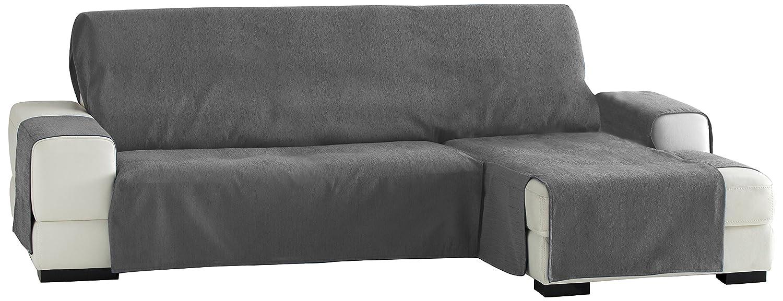 Zoco Sofa Überwurf Chaise Longue 240 cm. rechts Frontalsicht - Fb. 26-grau