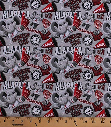 Amazon.com: Cotton University of Alabama Crimson Tide Bama ...