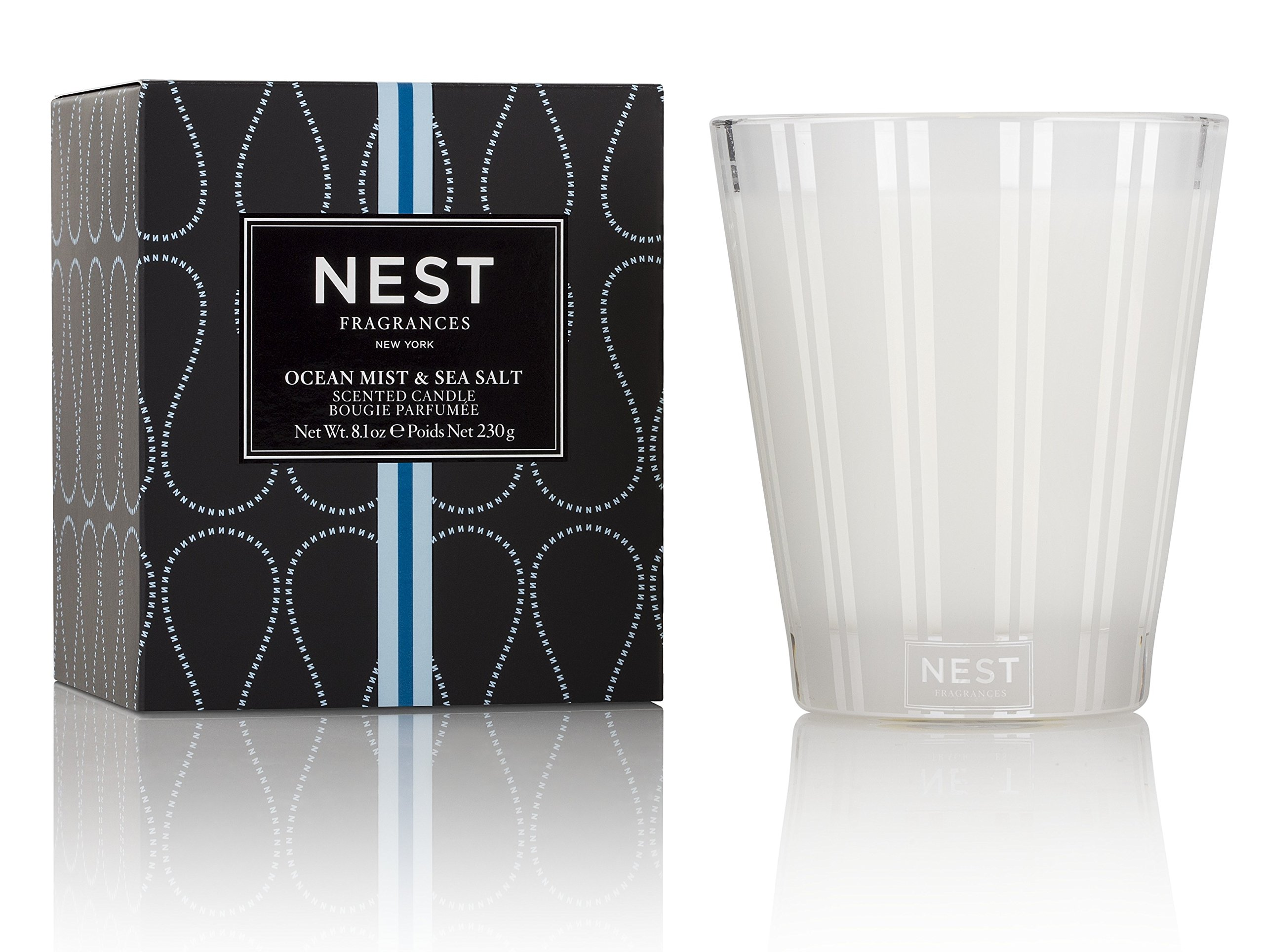 NEST Fragrances Classic Candle- Ocean Mist & Sea Salt, 8.1 oz