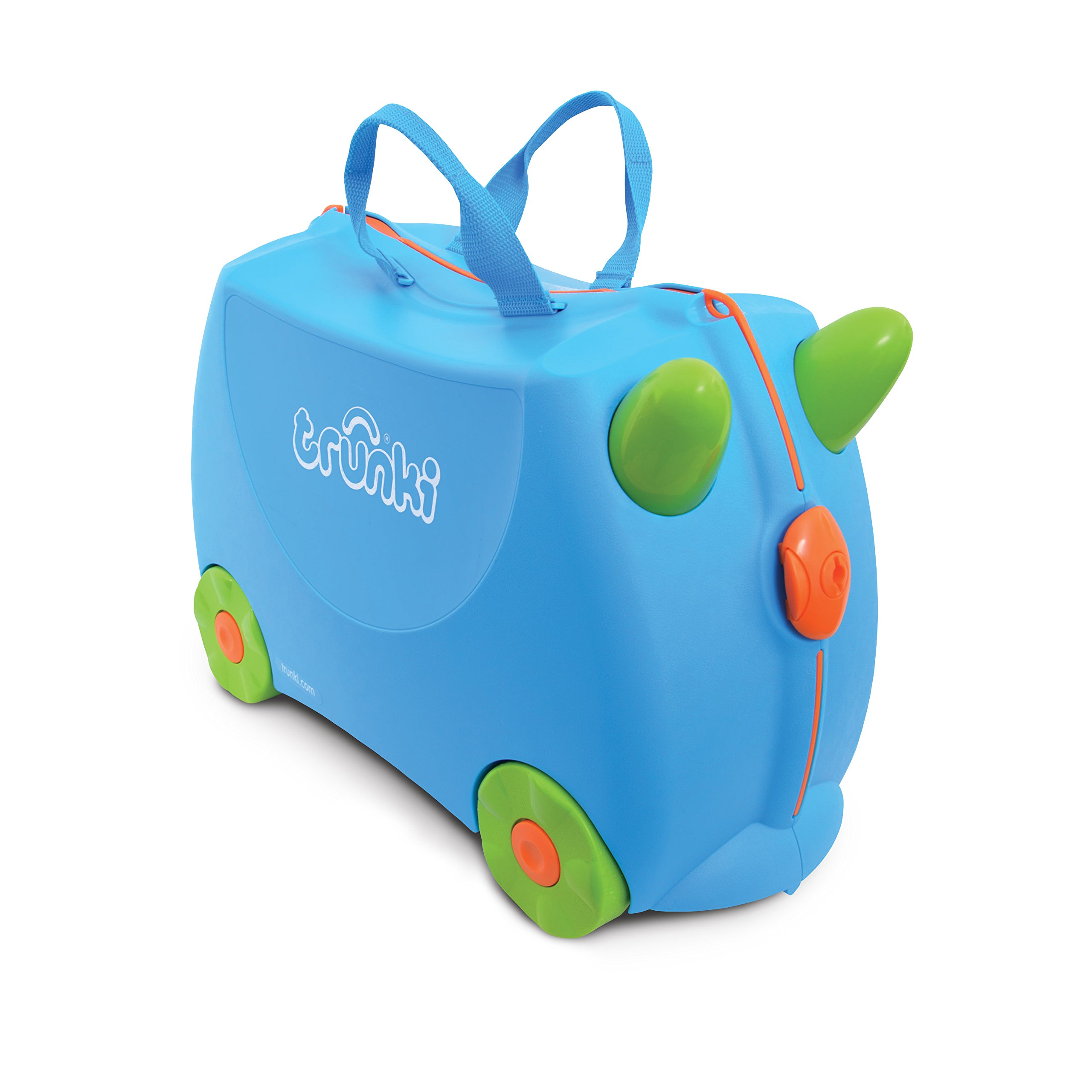 Trunki Original Kids Ride-On Suitcase and Carry-On Luggage - Terrance (Blue) by Trunki (Image #1)