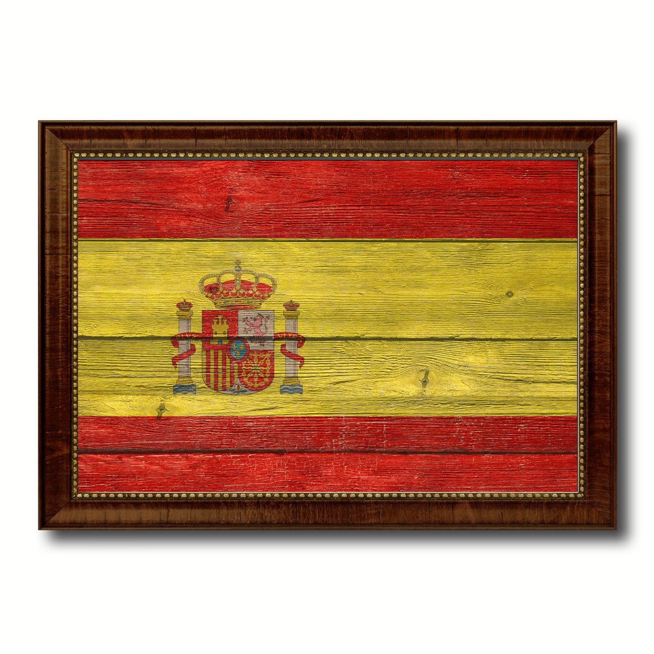 Amazon.com: Spain Flag Textured National Country Design Handcrafted ...