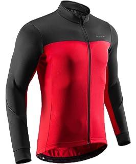 Herren Fahrradshirt Fitness Sport Langarm Shirt Sportshirt Radsport Rückentasche