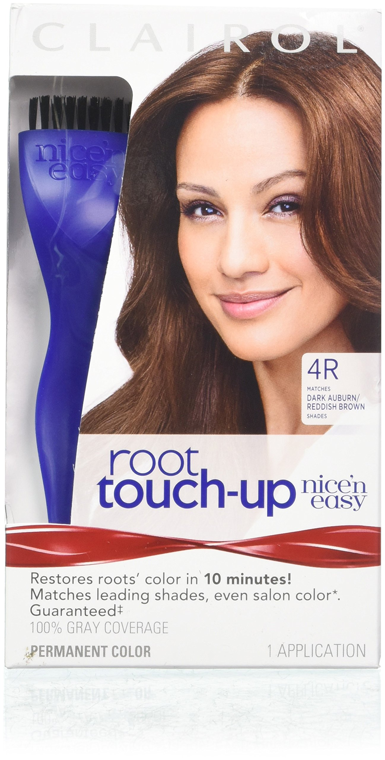 Clairol Nice 'n Easy Root Touch-Up 4R Kit (Pack of 2), Matches Dark Auburn/Reddish Brown Hair Color Shades, Superior Grey Coverage by Clairol