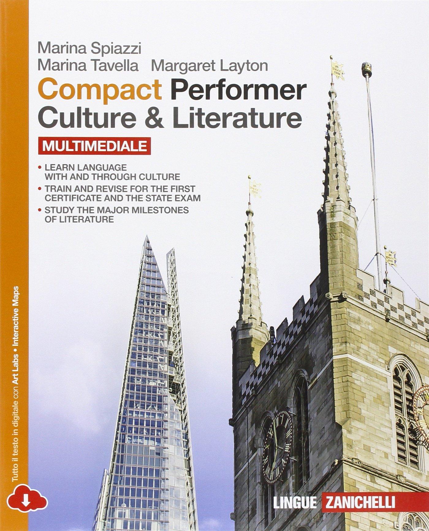 Compact Performer – Culture & Literature – Multimediale, libro di inglese per la scuola superiore