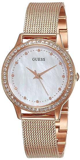 Guess Reloj analogico para Mujer de Cuarzo con Correa en Acero Inoxidable W0647L2: Amazon.es: Relojes