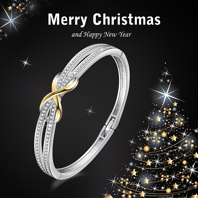 Angelady Bracelets Bangles pour les femmes dames filles conçoivent avec des cristaux de SWAROVSKI, cadeau pour la mère épouse petite amie