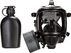 MIRA Safety Full-Face Respirator Mask | CBRN NBC Masks | Eye and Respiratory Protection | Anti-Fog | 180° Field of View | Universal Size (Kit 2)