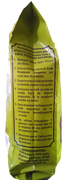 Amazon.com : Cafe Segovia Premium Ground Coffee, 14.1 Ounce Bag - from Nicaragua : Grocery & Gourmet Food