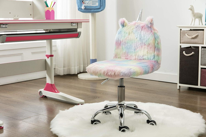 Dm Furniture Cute Kids Study Desk Chair Colorful Unicorn Animal Modern Rolling Chair Children Girl Boy