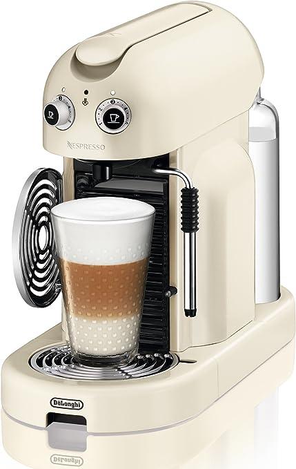 Nespresso Maestria Creamy white (beige) EN450CW DeLonghi - Cafetera monodosis (19 bares, Apagado automático, Vaporizador para la espuma), Color crema, diseño retro: Amazon.es: Hogar
