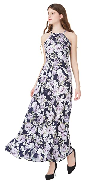 08c64a3d8901 Mommesilk Maxi Bridesmaid Dresses for Women Long Wedding Cocktail Evening  Summer Casual Dress