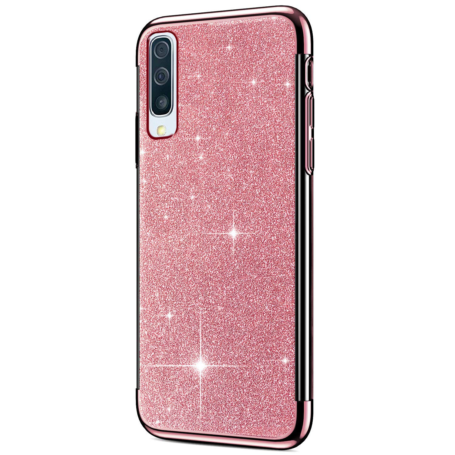 Bling Mirror Cover Hpory compatible avec Samsung Galaxy A50 Samsung Galaxy A50 rose gold