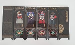 Chinese Home Decor / Chinese Gifts / Chinese Crafts / Chinese Mini Screen: Chinese Folding Mini Screen - Chinese Opera Masks