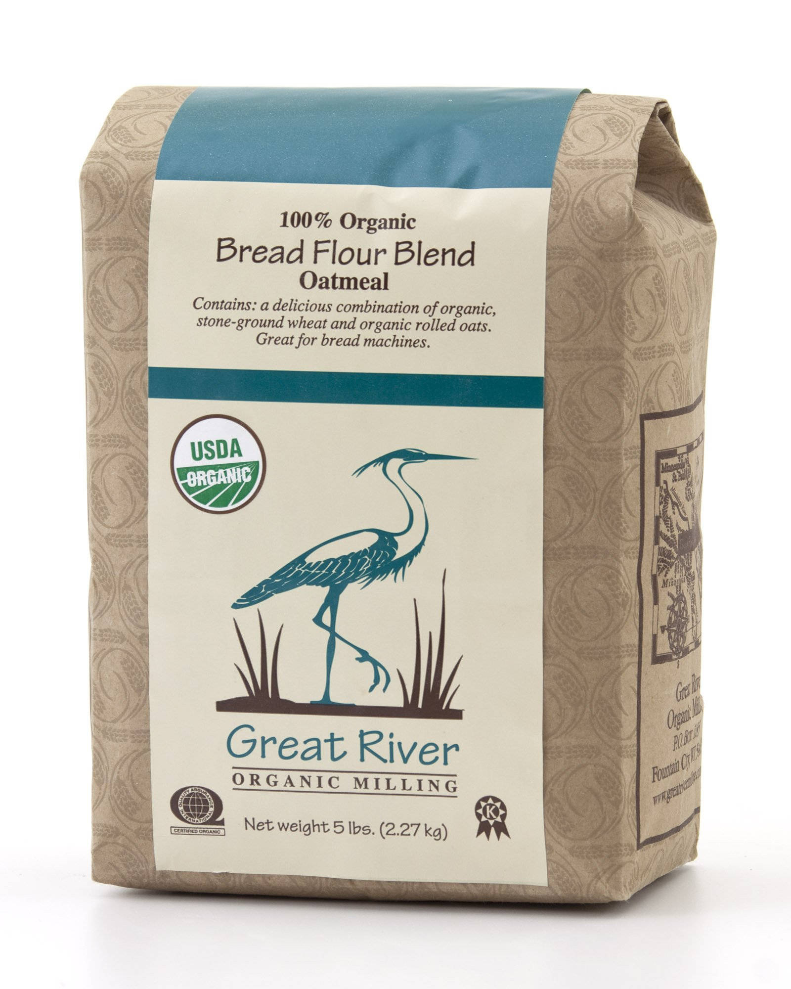 Great River Organic Milling Organic Oatmeal Bread Flour Blend (Pack of 4)