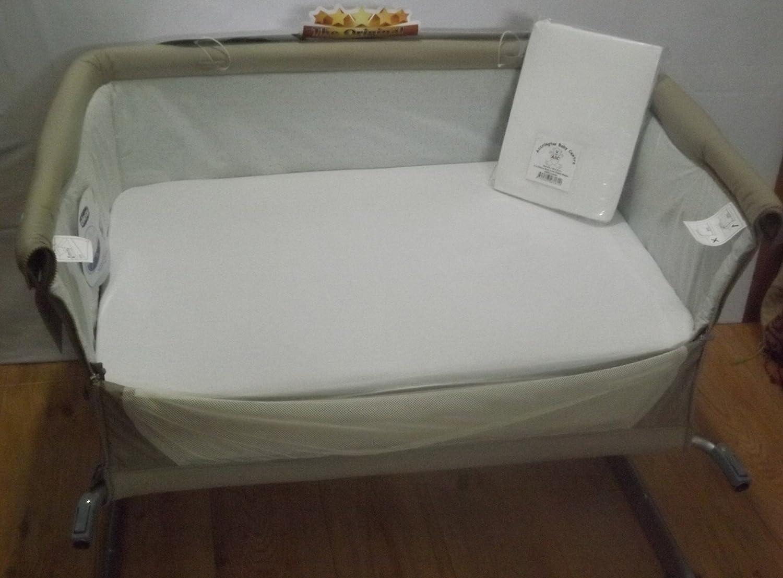 4x sábanas compatible con Chicco Next 2 me 100/% algodón-Blanco//Crema