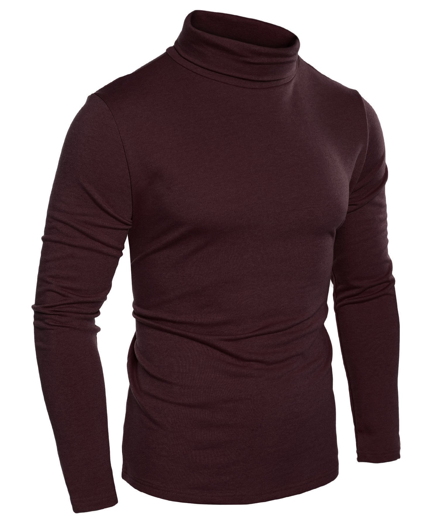 Simbama Mens Casual Basic Thermal Turtleneck Slim Fit Pullover Thermal Sweaters