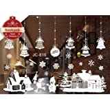 Christmas Santa Claus Snowman Reindee Window Wall Stickers Removable Mural for Home Decoration 50 * 70cm (A)