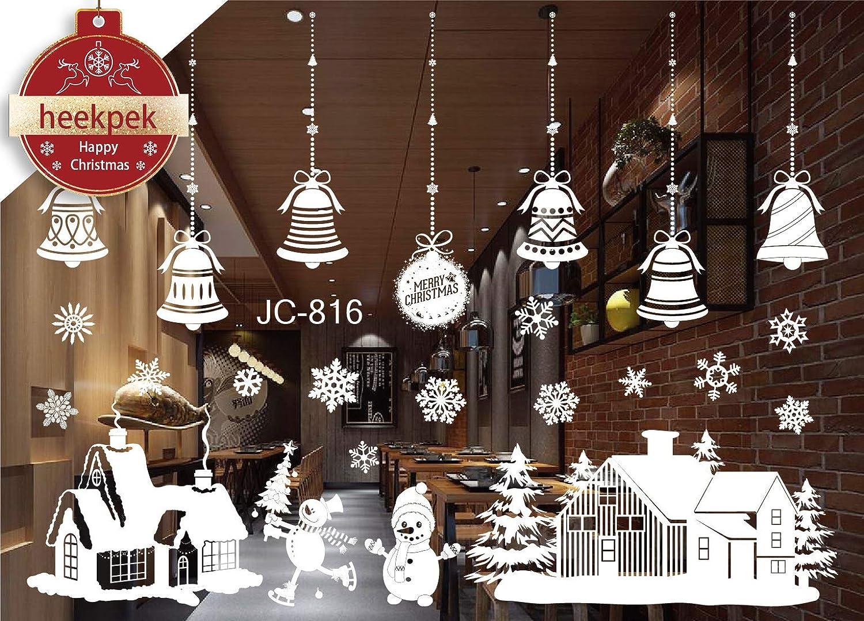 Navidad Santa Claus á rbol de Navidad Saló n Dormitorio Escaparate Extraí ble Pegatinas de pared Murales (B) Heekpek®