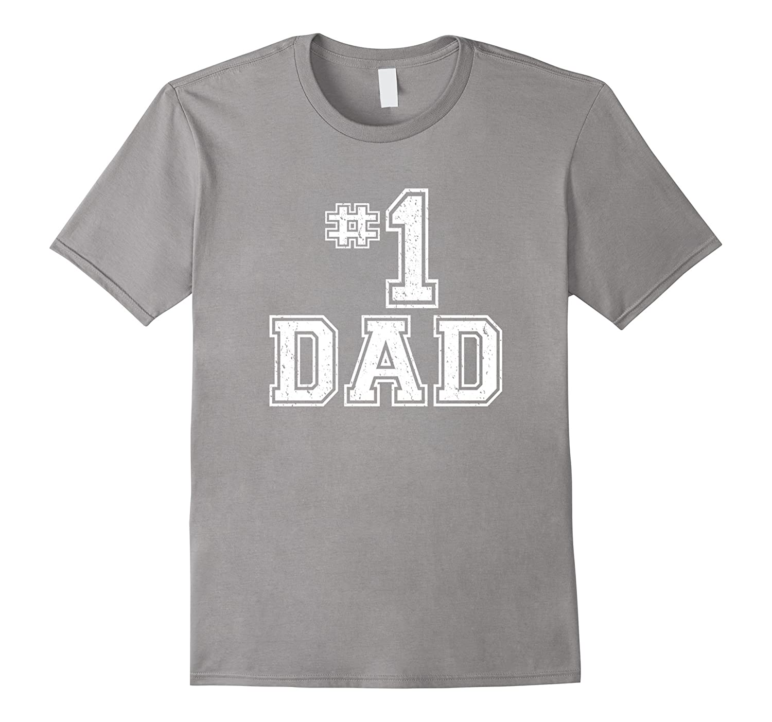 e575a9f9 1 Dad Number One Fathers Day Vintage Style T-Shirt-RT – Rateeshirt